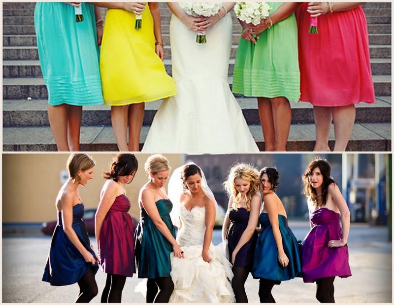 Colorful Bridesmaid Dresses | Cloud 9