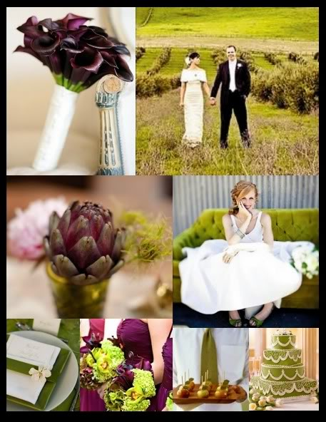 wedding inspiration eggplant and olive decor. Black Bedroom Furniture Sets. Home Design Ideas