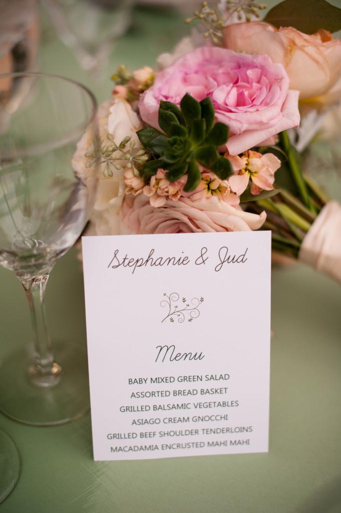 cloud 9_wedding menu_bridesmaids bouquet_garden wedding