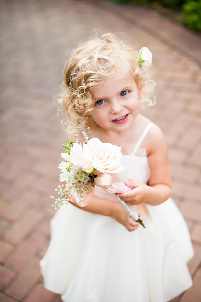 flower girl_cream bouquet_plum sage