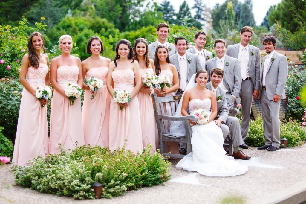 gray and light pink_wedding party_cloud 9_garden wedding