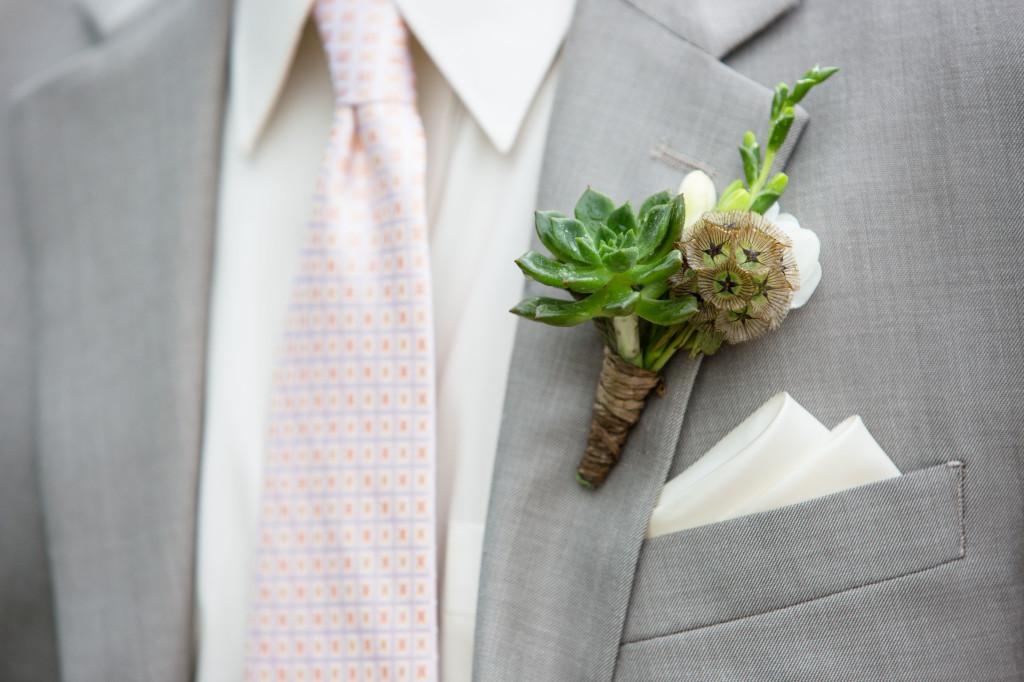 plum sage_succulent boutonniere_cloud 9_gray suit