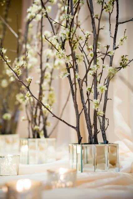 cherry blossom wedding ceremony flowers by swank stems